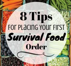 """Want to stock up on """"survival food""""? The websites and varieties of foods are confusing. Here are 8 simple tips for determining what YOU should order. Survival Food Kits, Emergency Food Supply, Survival Prepping, Emergency Preparedness, Survival Gear, Survival Skills, Survival Hacks, Survival Shelter, Survival Equipment"""