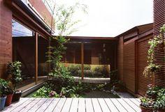 Japanese house built around courtyard