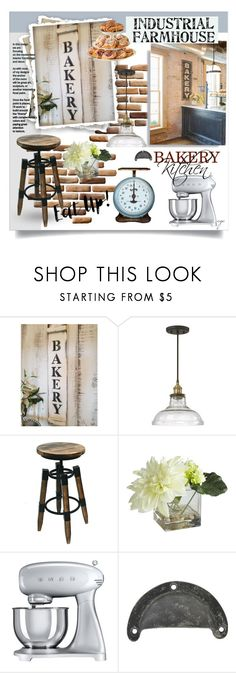 """""""BAKERY/KITCHEN SETS"""" by craftygeminicreation ❤ liked on Polyvore featuring interior, interiors, interior design, home, home decor, interior decorating, 251 First, Pier 1 Imports, Smeg and kitchen"""
