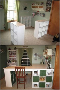 25+ Creative DIY Projects to Make a Craft Table --> How to Build a Custom Craft Desk #furniture #diy #craft_table