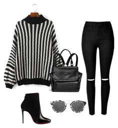 """""""Black & white"""" by lady-irishkasham ❤ liked on Polyvore featuring Christian Louboutin, Givenchy and Taylor Morris"""