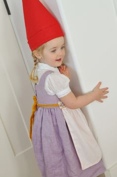 Gnome costume.  This lady makes such cute things for her kids... go see her site!