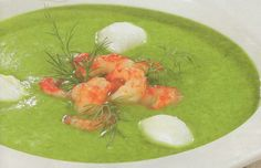 Trinta špinatų sriuba su krevetėmis ir kiaušiniais