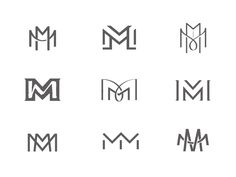 MM Monograms m monogram logo lockup icon design typography letter meek manusc. Wm Logo, Typography Logo, Monogram Design, Lettering Design, M Monogram, Lettering Styles, Lettering Tutorial, Corporate Design, Branding Design