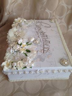 Shabby chic gift box wedding box present box by customcardsbysarah