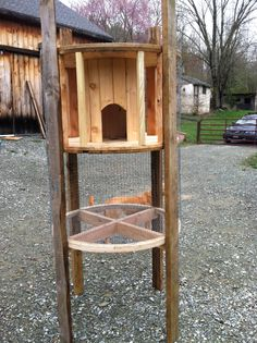 Progress on my cable reel hutches for my angora rabbits. Still needs the doors, a ramp, and a roof. Hope these make the little buns happy!