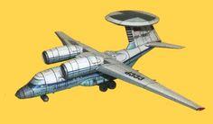 Soviet Antonov An-71 Madcap AWACS Aircraft Paper Model Free Download…