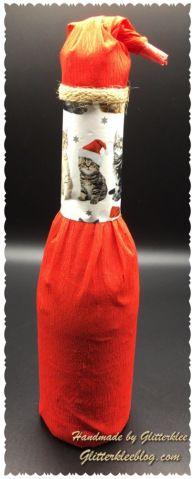 Flaschen kreativ verpackt zu Weihnachten DIY – Geschenkideen