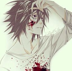 L ! He seriously looks like Jeff the killer