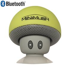 Mini Bluetooth Speaker - Fun Shockproof Cartoon Mushroom with LED Display Lighting and Wireless Integrated Mic for Calls - Ideal for your iphone 6, Apple Ipad, HTC and Samsung Phone (Yellow) MiniMush http://www.amazon.com/dp/B01962DE0U/ref=cm_sw_r_pi_dp_oVvNwb181AZ4Q