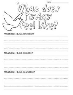 """This worksheet is meant to accompany the story """"What Does Peace Feel Like"""" by… Remembrance Day Activities, Remembrance Day Art, Peace Education, Religious Education, School Holidays, School Fun, Sunday School, Middle School, School Ideas"""