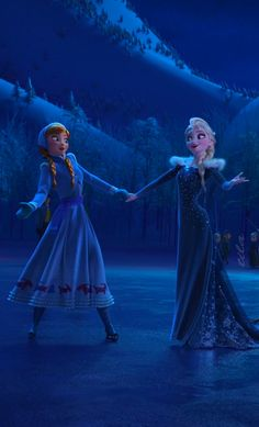 Anna and Elsa from Olaf's Frozen Adventure. Frozen Disney, Princesa Disney Frozen, Frozen Two, Disney Olaf, Frozen Movie, Frozen Elsa And Anna, Olaf Frozen, Disney Fun, Disney Movies