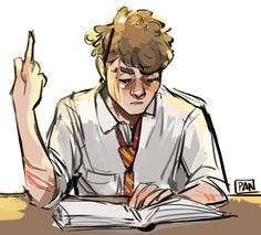 My humble request is moony reading a book and simultaneously ignoring and giving padfoot the middle finger Harry Potter Artwork, Harry Potter Marauders, Harry Potter Drawings, Harry Potter Fan Art, Harry Potter Universal, Harry Potter Fandom, The Marauders, Remus And Sirius, Remus Lupin