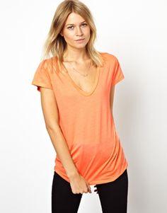 Image 1 ofASOS T-Shirt with V Neck
