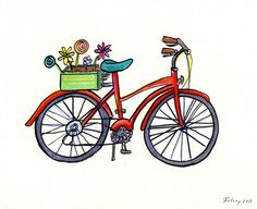 Grey Sparrow art. I like the cartoony style for when I get a bicycle tattoo.