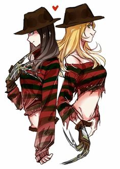 Felice Kruger the super cute version of Freddy Kruger Horror Movies Funny, Horror Movie Characters, Scary Movies, Horror Stories, Zombie Disney, Horror Icons, Horror Art, Freddy Krueger, Creepypasta Cute