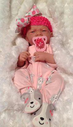 Aww!! BABY GIRL REBORN LANEWBORN PREEMIE BERENGUER DOLL W MAGNETIC PACI/BOTTLE +