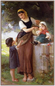 Emile Munier May I Have One Too painting for sale - Emile Munier May I Have One Too is handmade art reproduction; You can shop Emile Munier May I Have One Too painting on canvas or frame. Classic Paintings, Old Paintings, Paintings I Love, Beautiful Paintings, William Adolphe Bouguereau, Images D'art, Munier, Oil Painting Reproductions, Classical Art