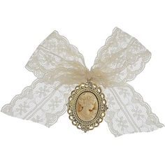 Cameo Bow Brooch ($20) ❤ liked on Polyvore featuring jewelry, brooches, fillers, accessories, bows, women, cameo brooch, bow jewelry, bow brooch and lace jewelry