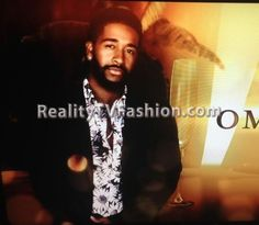 "Omarion's ""Love & Hip Hop Hollywood"" Opening Credits Topman Black & White Mono Daisy Print Shirt"