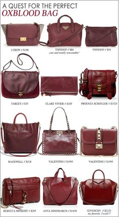7101ca553cb My Quest For The Perfect Oxblood Bag Burgundy Bag