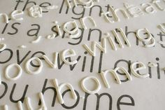"""Holy smokes. This may be the best crafting tip of the month. """"print out the font you want and place wax paper over it. Trace letters with puffy paint, let dry, then use mod podge to secure letters to canvas, etc. Brilliant.""""."""
