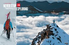 Jimmy Chin shot the images for the new Fall 2010 North Face ad campaign during a ski mountaineering expedition to Redommaine Peak in Sichuan, China. Jimmy, Kasha Rigby, Ingrid Backstrom and Giulia Monega made the first ski descent of the 20,000ft peak in October of 2009.