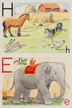 H-häst och E-elefant