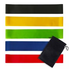 Latex Strength Training Resistance Bands Set – Fitness And Exercises Home Exercise Program, Home Exercise Routines, At Home Workout Plan, Workout Programs, Fun Workouts, At Home Workouts, Stretch Band, Massage, Resistance Loop Bands