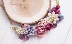 Succulent jewelry. Succulent plant necklace. par imakeflowers