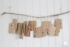 advent brown paper parcels