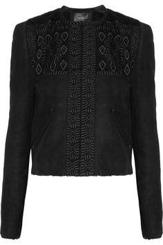 Isabel MarantEdge embroidered shearling jacket