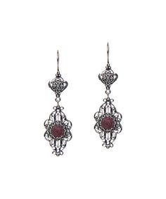 Ottoman Silver Collection Rhodonite & Sterling Silver Filigree Drop Earrings by Ottoman Silver Collection #zulily #zulilyfinds