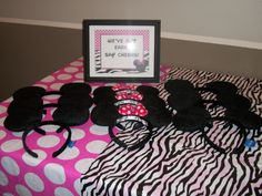 Number 2 Minnie Mouse zebra theme cake Nanners 2nd bday ideas