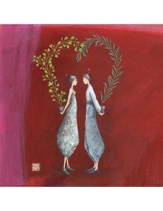 """Gaëlle Boissonnard carte d'art """"Un amour végétal"""""""