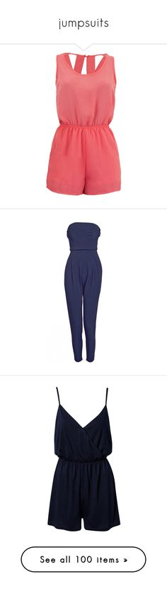 """jumpsuits"" by julialeskiv ❤ liked on Polyvore featuring jumpsuits, rompers, romper, dresses, playsuits, jumpsuit, romper jumpsuit, sexy jumpsuits, red romper jumpsuit and chiffon romper"