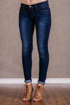 flying monkey premium denim skinny jeans dark wash