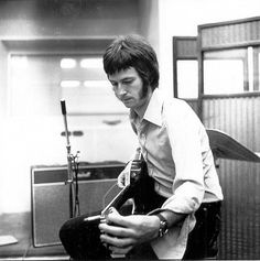 "Eric Clapton recording the ""Beano"" album, circa 1966. Check out that infamous Marshall JTM45 Bluesbreaker behind him!"