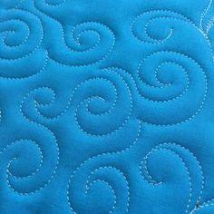 How to Free-Motion Quilt Swirl Designs - open swirl desgin