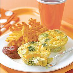 Broccoli-and-Cheddar Mini Quichesk