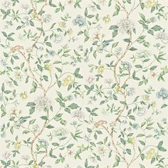 Shop for Fabric at Style Library: Sissinghurst by Sanderson. Taken from a beautiful print on glazed chintz found in the Warner archive, this linen-blen. How To Make Curtains, Made To Measure Curtains, Curtains With Blinds, Harlequin Fabrics, Sanderson Fabric, Animal Print Wallpaper, Richmond Hill, Floral Curtains, San Antonio
