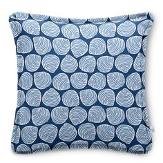 Flanged Pillow in Shell Game Oyster | Maine Cottage