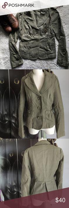 Apt 9 100% Cotton Tan Jacket 100% cotton tan jacket. Perfect condition, super cute! Apt. 9 Jackets & Coats
