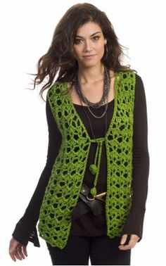 Hippie Holidays Vest | Have yourself a groovy little Christmas with this crochet vest!