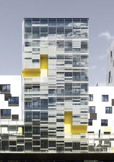Apartment Blocks in Nanterre / X-TU Architects: X-TU Location: Nanterre, France Architect In Charge: Nicolas Desmazières, Anouk Legendre Project Leader: Nicolas Jomain Area: 13,252 sqm Year: 2012 Photographs: Luc Boegly