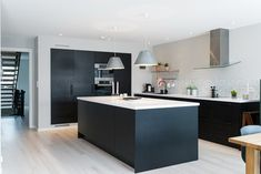 Best Design Kitchen Remodel Ideas Modern With Pictures Kitchen Interior, New Kitchen, Interior Design Living Room, Black Kitchens, Home Kitchens, Kitchen Views, Scandinavian Kitchen, Küchen Design, Modern Kitchen Design