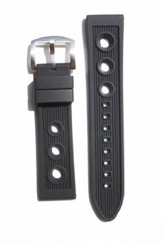 Breitling Rally Style 22mm Black Rubber/Silicone Replacem...