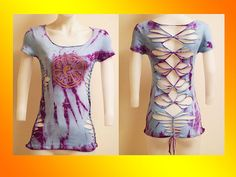 ON SALE! SIZE SMALL...ONLY 1 Made...Tie Dyed Shredded by LasciviousGrace