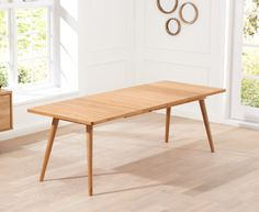 £700 Buy the Tivoli 200cm Retro Oak Extending Dining Table at Oak Furniture Superstore
