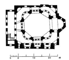 Plan of Abbey church, Saint-Denis. 1140-1144 (with the old